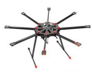 Abb.: Leichter und zugleich steifer und fester Multicopter Rahmen von Tarot. Bild: Tarot