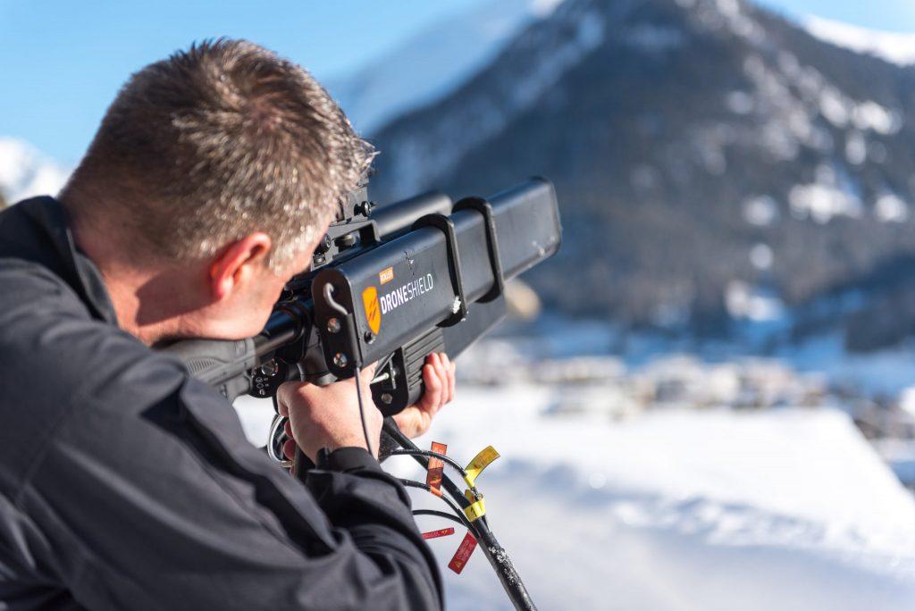 DroneGun am WEF 2017 in Davos Bild: Kantonspolizei Graubünden